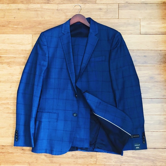 River Island Other - Blue Check Suit